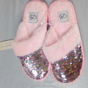 Shoes - Cute Sequence Soft Slippers By Bobbie Brooks